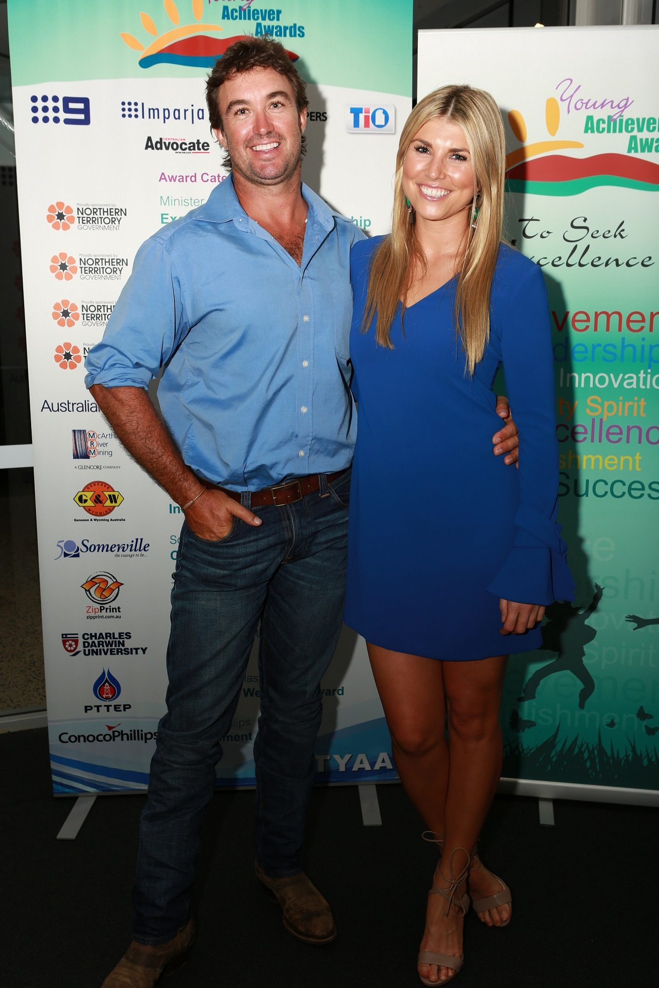 Matt Wright at Northern Territory Young Achiever Award