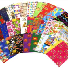 6 x pack of assorted gift wrapping sheets